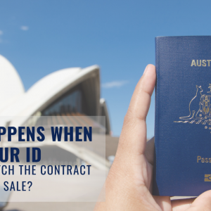 WHAT HAPPENS WHEN YOUR ID DOES NOT MATCH THE CONTRACT OF SALE?